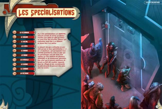 Double page d'introduction du Chapitre Spécialisations