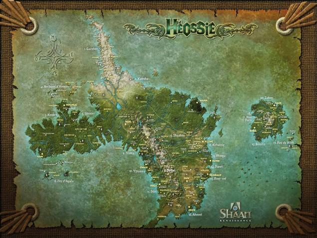Carte d'Héossie