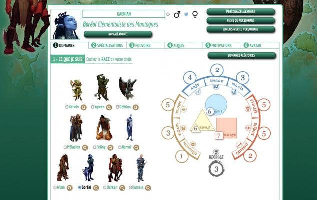 4 - Vous et vos joueurs pouvez utiliser le générateur de personnage afin de créer les personnages pour votre table, ou utiliser les dix pré-tirés disponibles sur la page des fichiers PDF : www.shaan-rpg.com/pdf/